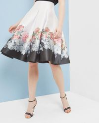 Ted Baker - Painted Posie Pleated Skirt - Lyst