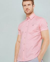 Ted Baker - Textured Cotton Shirt - Lyst