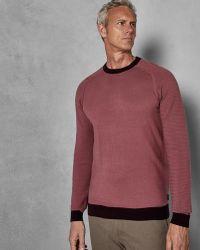 Ted Baker - Tall Striped Sleeve Wool Jumper - Lyst