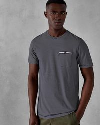 Ted Baker - Striped Cotton T-shirt - Lyst