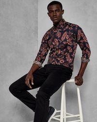 Ted Baker - Highbur Slim Fit Button-down Shirt - Lyst
