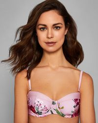 Ted Baker - Serenity Moulded Bikini Top - Lyst