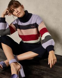 Ted Baker - Mohair Striped Knit - Lyst