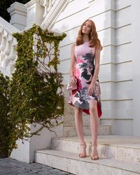 Ted Baker - Palace Gardens Asymmetric Dress - Lyst