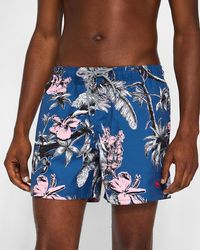 Ted Baker - Parrot Print Swim Shorts - Lyst