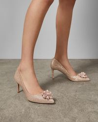 Ted Baker - Lurex Brooch Detail Courts - Lyst