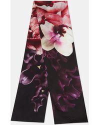 dc7d3d05766a1 ... Ted Baker - Splendour Skinny Silk Scarf - Lyst discount sale abdcf  37d5e ...