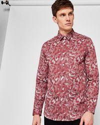 Ted Baker - Floral Dot Print Cotton Shirt - Lyst