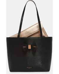 Ted Baker - Bow Detail Small Leather Shopper Bag - Lyst