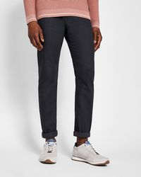 Ted Baker - Printed Hem Tapered Fit Jeans - Lyst
