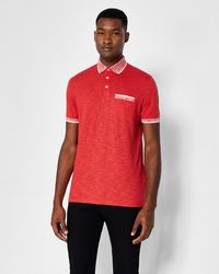 Ted Baker - Space Dye Collar Polo Shirt - Lyst