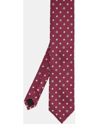 Ted Baker - Buttons Polka Dot Silk Tie - Lyst