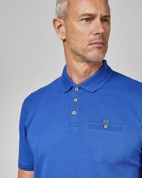 Ted Baker - Tall Cotton Blend Polo Shirt - Lyst