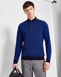 Ted Baker - Ribstart Cotton Polo Shirt - Lyst