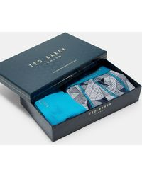 Ted Baker - Cotton Boxer Short And Sock Gift Set - Lyst
