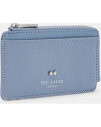 Ted Baker - Lotta Bow Detail Leather Card Holder - Lyst