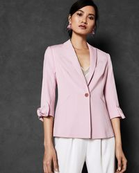 Ted Baker - Bow Cuff Tailored Jacket - Lyst
