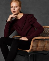 Ted Baker - Ruffle Detail Sweater - Lyst