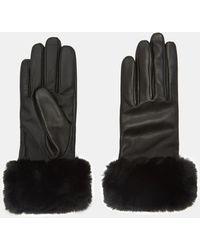 Ted Baker - Faux Fur Trim Gloves - Lyst