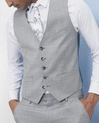 Ted Baker - Debonair Wool Waistcoat - Lyst