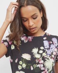 Ted Baker - Kensington Floral Fitted T-shirt - Lyst
