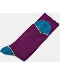 Ted Baker - Contrast Trim Cotton Socks - Lyst