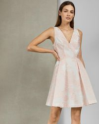 9dd35700f0d Ted Baker Sarvani Lace Bodice Dress in Natural - Lyst
