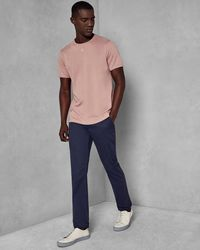 Ted Baker - Slim Fit Dotted Cotton Trousers - Lyst