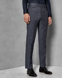 Ted Baker - Sterling Check Wool Trousers - Lyst