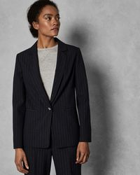 10db2c96c Ted Baker - Longline Single Breasted Jacket - Lyst