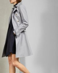 Ted Baker - Knot Cuff Detail Cotton Trench Coat - Lyst