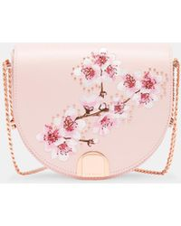 Ted Baker - Soft Blossom Leather Moon Bag - Lyst