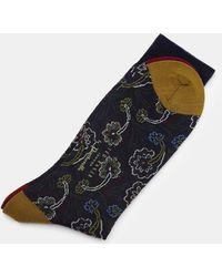 Ted Baker - Paisley Wool Socks - Lyst