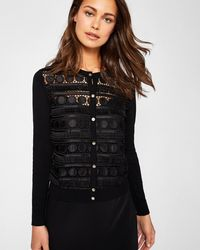 Ted Baker - Circle Lace Panel Cardigan - Lyst