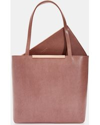 e00e175c1a1f37 Ted Baker Betties Leather Mini Tote Handbag in Blue - Lyst