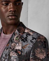 Ted Baker - Global Floral Jacquard Jacket - Lyst