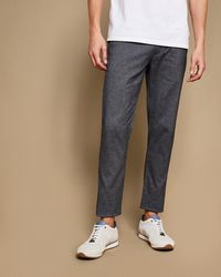 Ted Baker - Slim Fit Textured Trouser - Lyst