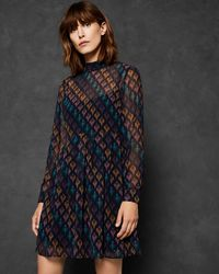 Ted Baker - Colour By Numbers Allyy Heart Print Dress - Lyst