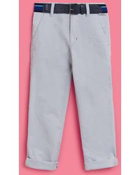 Ted Baker - Belted Cotton Chinos - Lyst