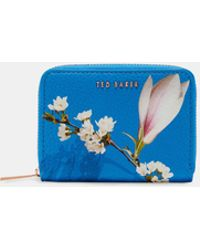 Ted Baker - Harmony Small Zipped Leather Purse - Lyst