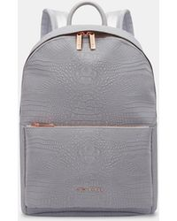 Ted Baker - Reflective Croc Effect Backpack - Lyst