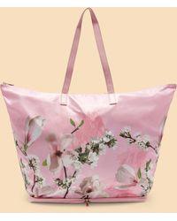 da64840482e5ab Ted Baker - Harmony Nylon Foldaway Shopper Bag - Lyst