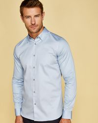 Ted Baker - Sateen Stretch Shirt - Lyst