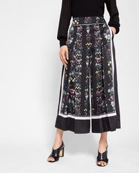 Ted Baker - Unity Floral Print Culottes - Lyst