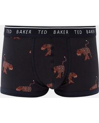 Ted Baker - Leopard Print Cotton Boxer Shorts - Lyst