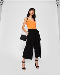 b1fd010e02ba5c Ted Baker Scalloped Edge Cami Top in Orange - Lyst