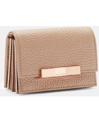 Ted Baker - Pebbled Leather Cardholder - Lyst