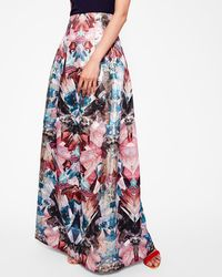 Ted Baker - Mirrored Minerals Maxi Skirt - Lyst