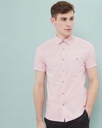 Ted Baker - Berya Short Sleeve Nepped Shirt - Lyst