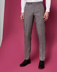 Ted Baker - Debonair Slim Wool Suit Trousers - Lyst